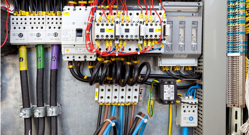 Electrical system with wiring and cabling out