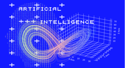 Multidimensional graph plotting with artificial intelligence written overtop