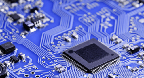 Microchip on a printed circuit board