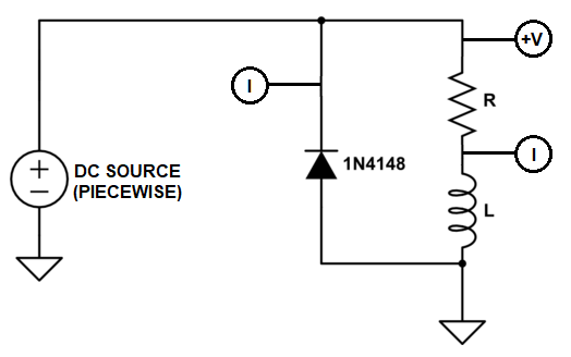 Relay with diode circuit model