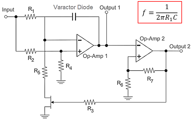 VCO vs NCO comparison with two op-amps