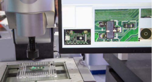 Visual inspection of PCB with optical equipment