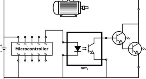 Schematic display of a microcontroller unit or MCU
