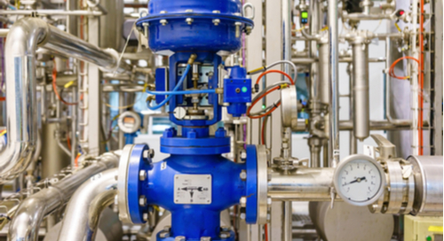 Actuators within an industrial heating system