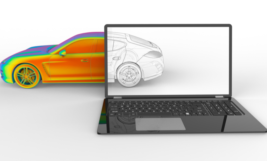 3D automotive design in a CAD tool