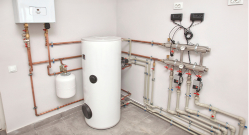 Boiler system in control of the temperature of an electrical system