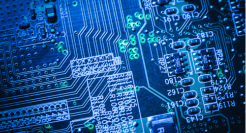 Routing on a blue circuit board