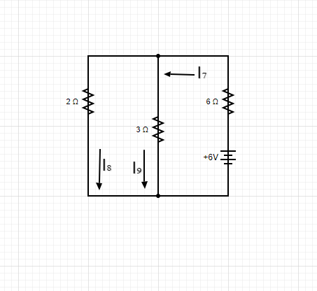 Circuit diagram with resistors and battery sources