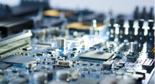Configured electronic circuit fabricated
