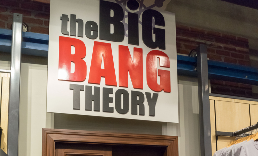 Picture of The Big Bang Theory over a set door
