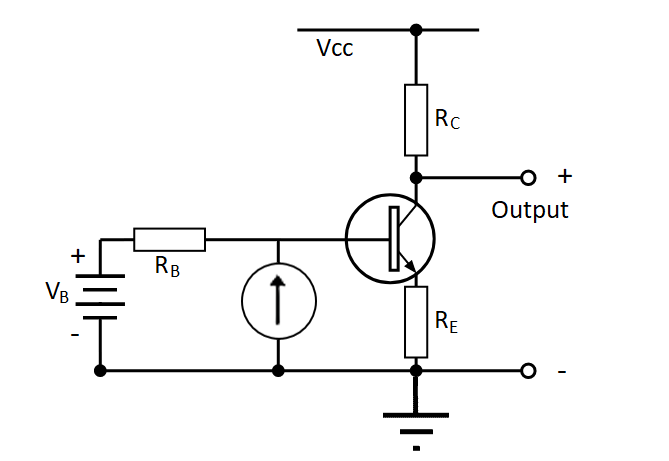 Phototransistor circuit model