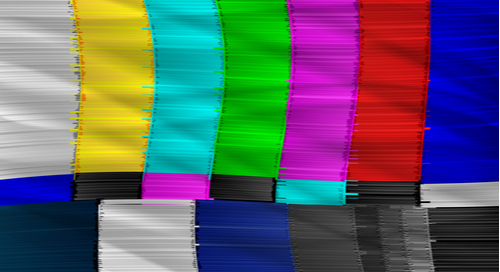 Static screen on an analog television picture