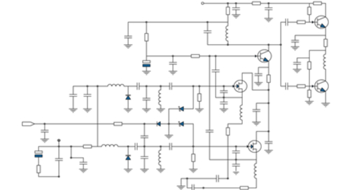 Schematic diagram of electronic components