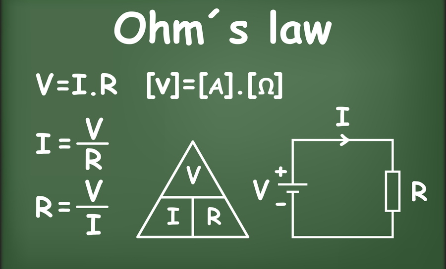 Ohm's law relates current with voltage and resistance