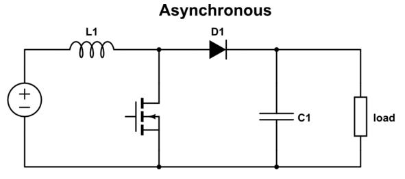 Asynchronous boost converter