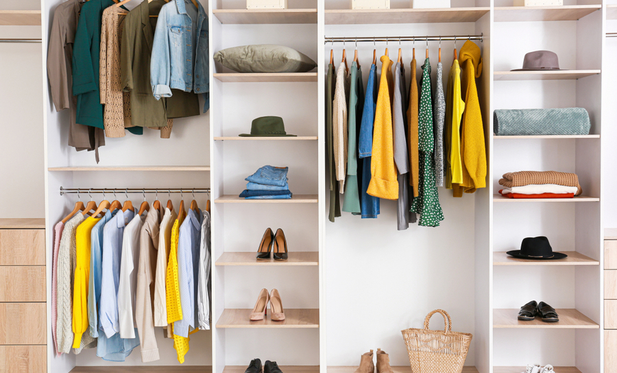 A tidy and sorted wardrobe