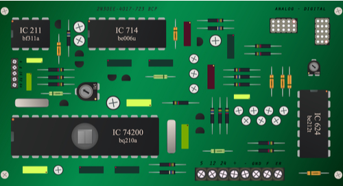 Graphic of a well-sorted printed circuit board
