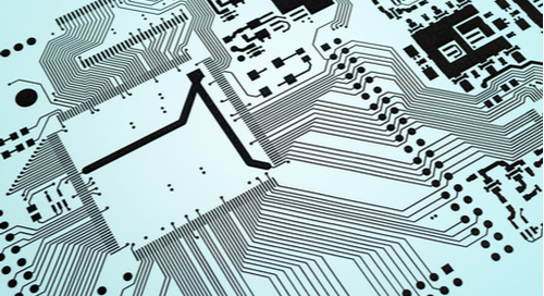 Clean looking routed printed circuit board