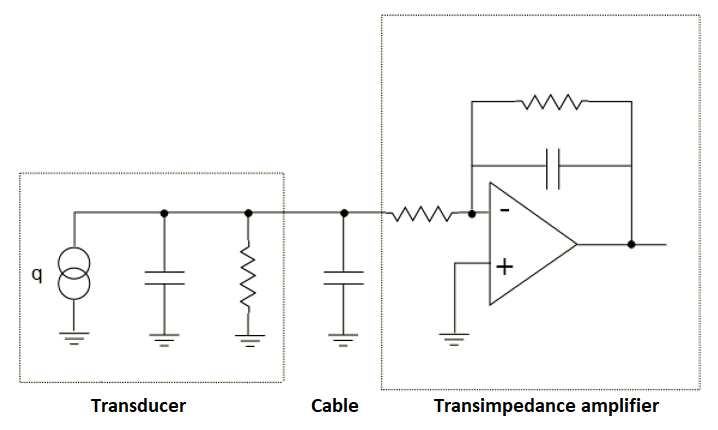 Circuit for piezoelectric load cell transducers