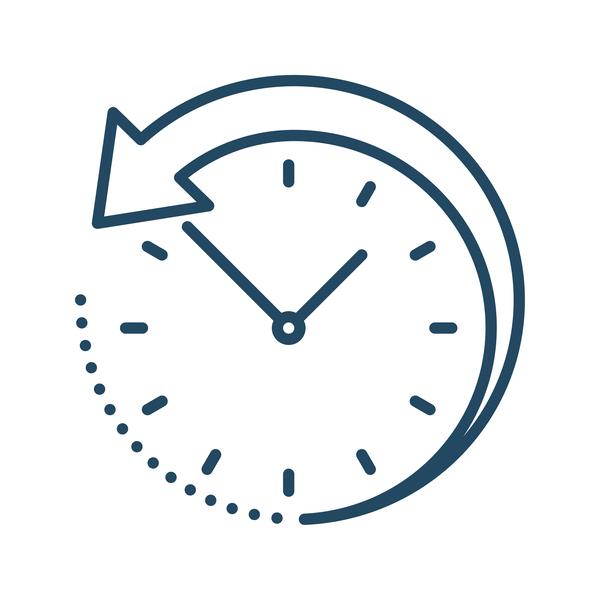 Backward flowing clock diagram