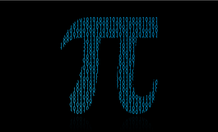 Pi filter graphic on black background