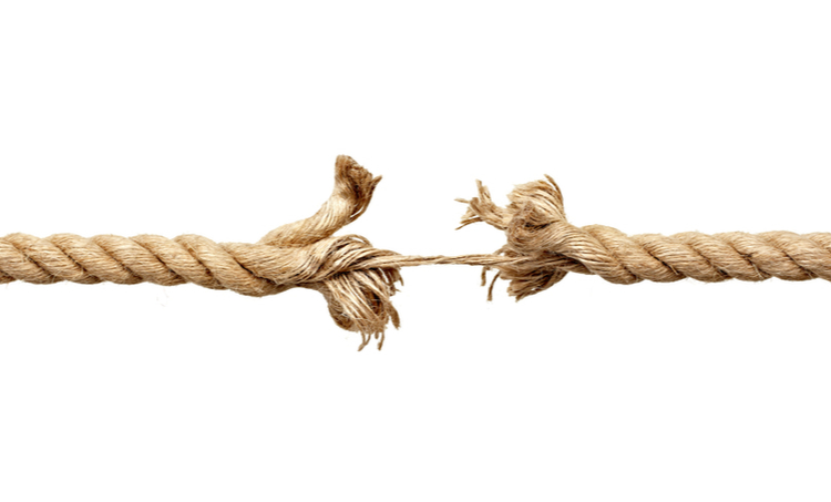 Picture of a frayed rope
