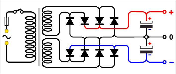 Dual DC power supply circuit