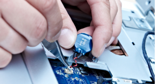 Fixing or testing a printed circuit board component