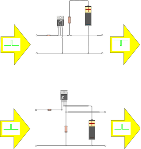 Inverting and non-inverting bipolar junction amplifiers