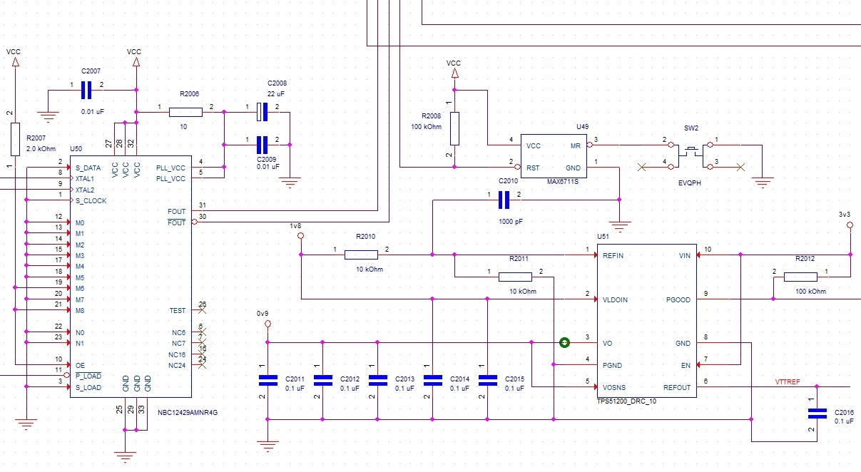 Screenshot of a schematic sheet in OrCAD Capture