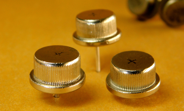 Rectifier diodes on a table