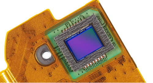 A photo of a semi rigid-flex PCB demonstrating its rounded corners
