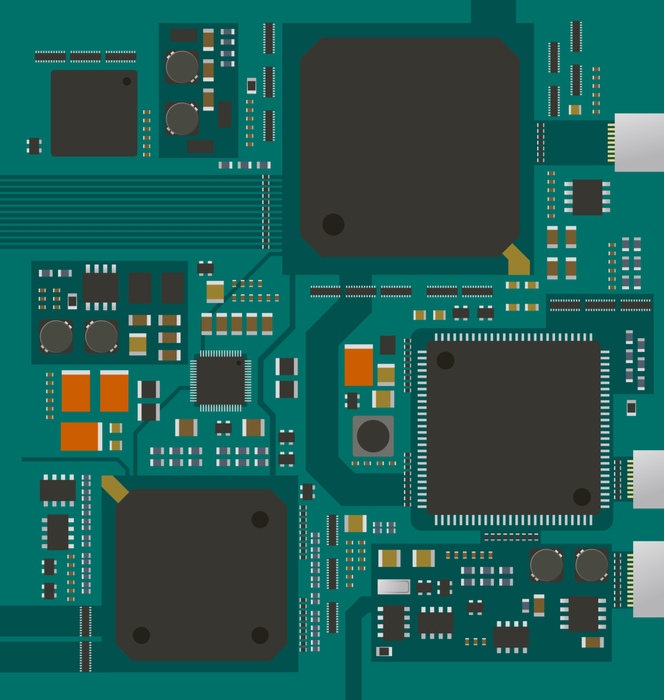 Circuit board with RF IC Components