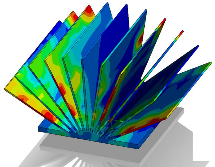 Example heat sink CFD results