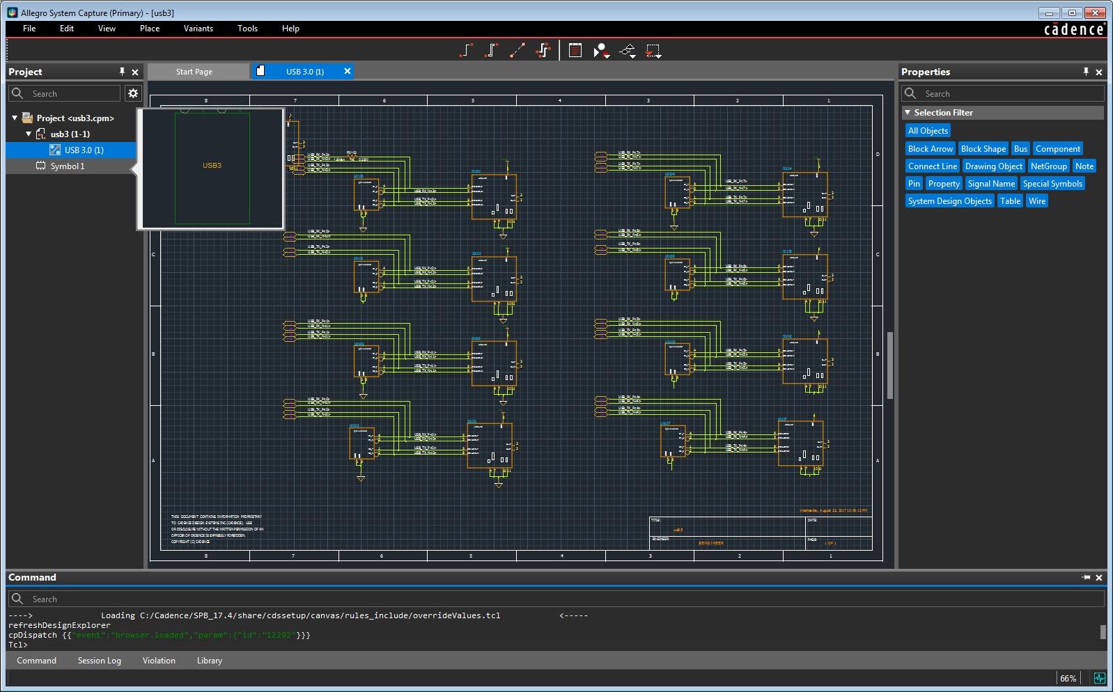 Screenshot of Cadence Allegro's System Capture software