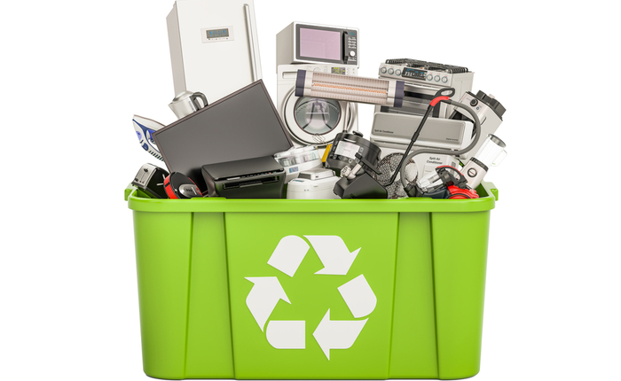 Recycled electronics.