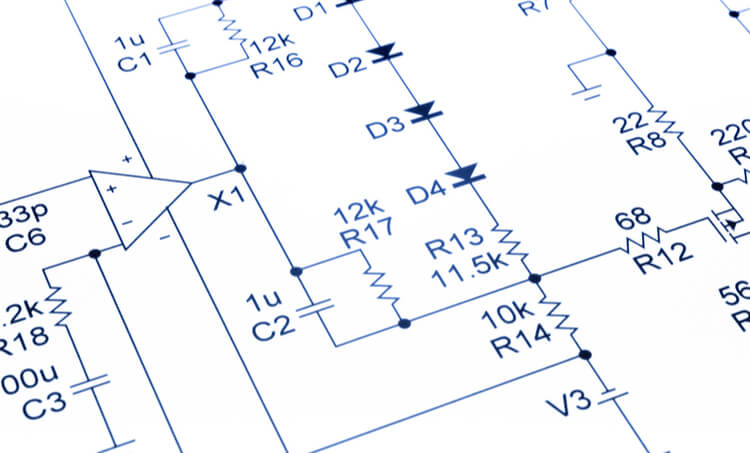Tracking voltage and current in electronics schematics