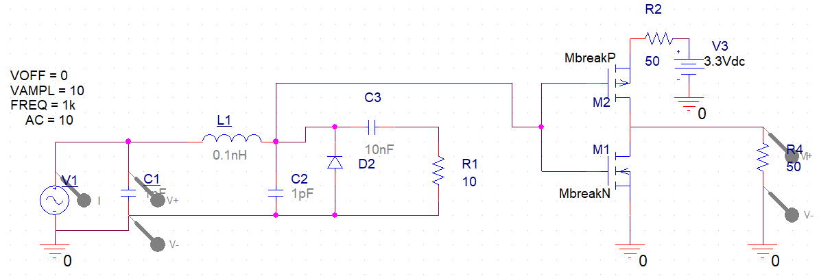 Tracking voltage and current in a schematic