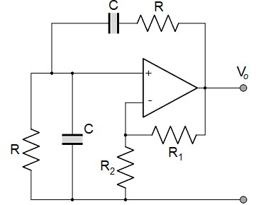 Wien bridge oscillator smooth output schematic