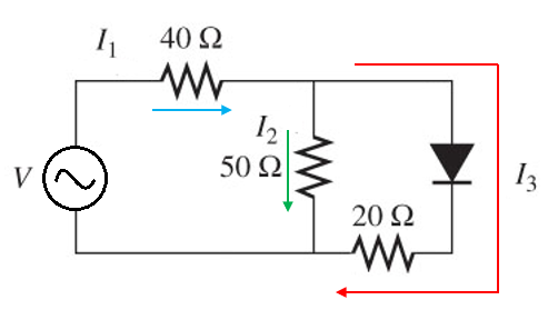 Example circuit for a diode