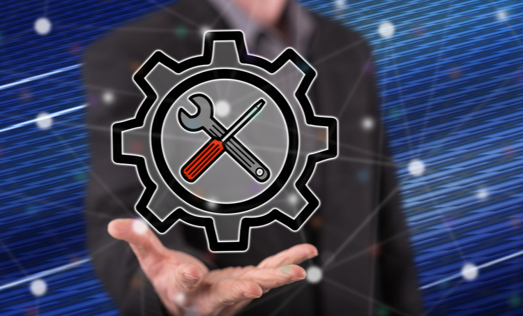 A concept image for a tool setup settings icon
