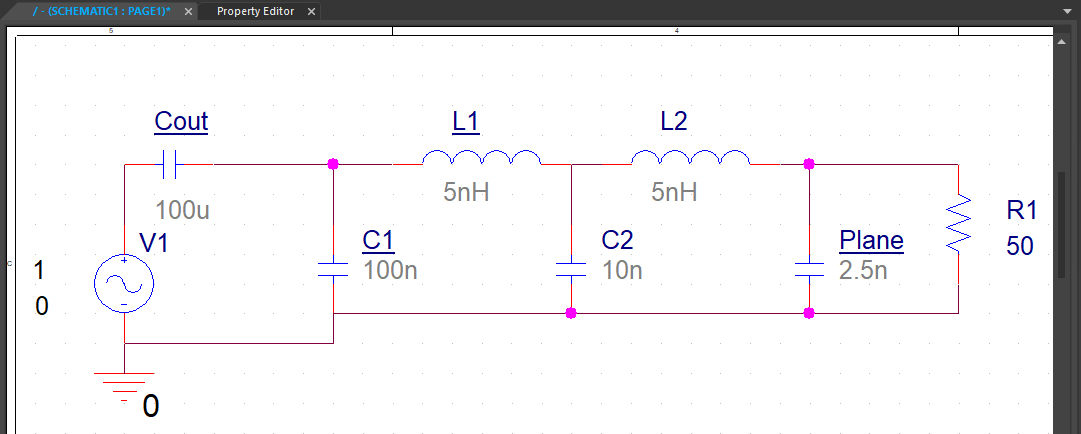 PDN impedance management schematic