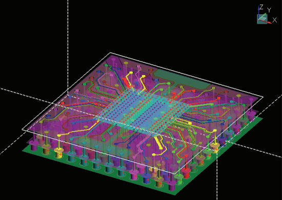 EM simulation on signal plane layers