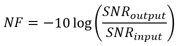 Noise figure formula for noise figure measurements