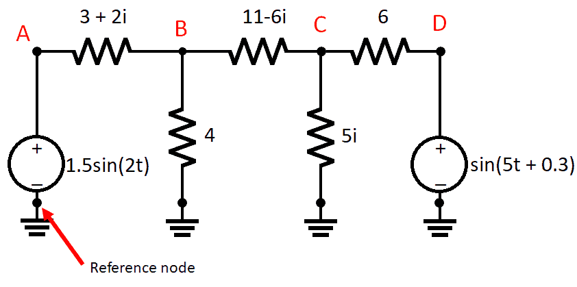 Steady state value nodal analysis in a simple circuit