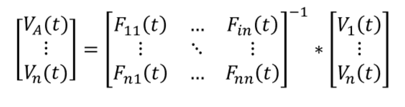 Nodal analysis in the frequency domain and time domain equation