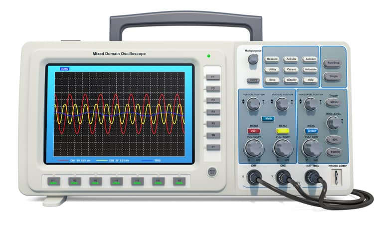 An oscilloscope for nodal analysis in the frequency domain in circuit design