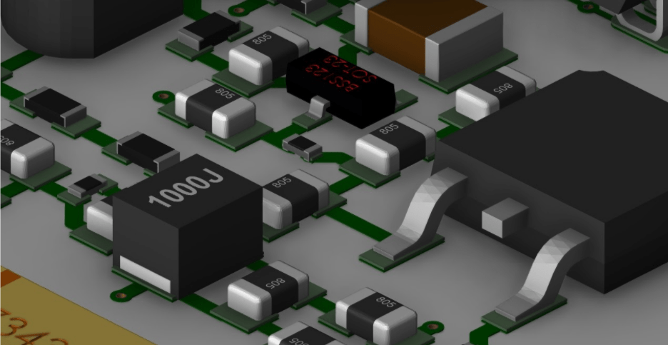 A 3D layout in OrCAD PCB Designer