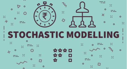 A graphic depicting stochastic modeling for Monte Carlo sensitivity analysis