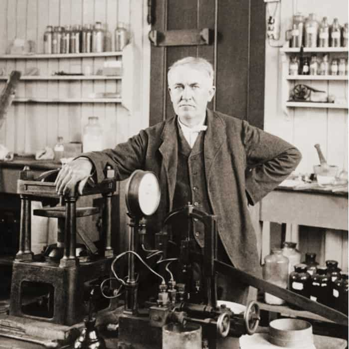 photograph of Thomas Edison